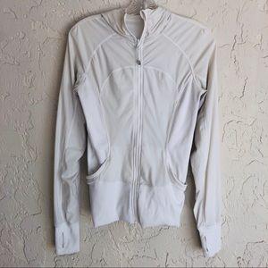 LULULEMON White Hoodie Jacket Size 6